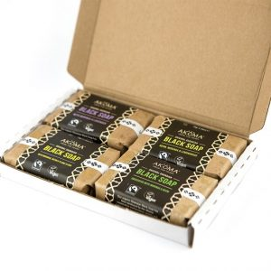 Akoma Black Soap Bars Assorted Collection, 4 x 70 g