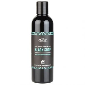 Akoma Liquid Black Soap Peppermint with Organic Raw Shea Butter