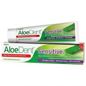 AloeDent Aloe Vera Sensitive Fluoride Toothpaste, 100 ml