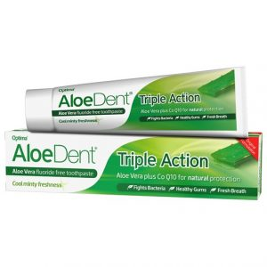 AloeDent Aloe Vera Triple Action Fluoride Free Toothpaste, 100 ml