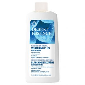 Desert Essence Whitening Plus Mouthwash Cool Mint, 473 ml