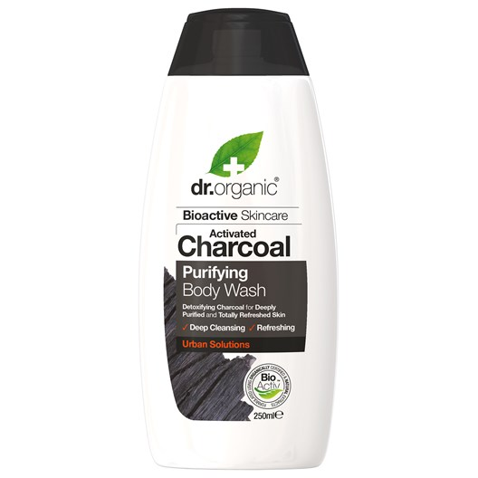 Dr. Organic Activated Charcoal Purifying Body Wash, 250 ml