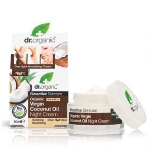 Dr. Organic Virgin Coconut Oil Night Cream, 50 ml