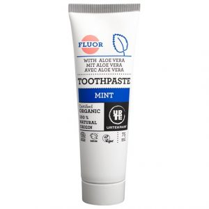 Urtekram Mint Toothpaste with Fluoride, 75 ml