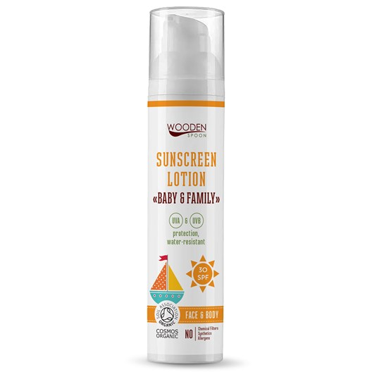 Wooden Spoon Gentle Sunscreen Lotion Baby & Family SPF 30