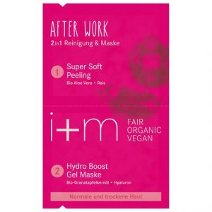 i+m Naturkosmetik After Work 2in1 Cleansing & Mask, 2 x 4 ml