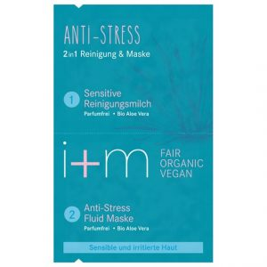 i+m Naturkosmetik Anti-Stress 2in1 Cleansing & Mask, 2 x 4 ml