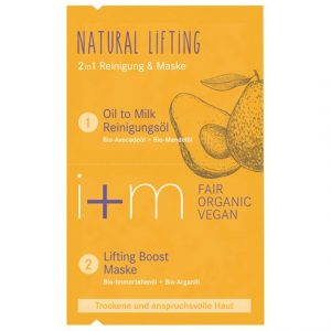 i+m Naturkosmetik Natural Lifting 2in1 Cleansing & Mask, 2 x 4 ml
