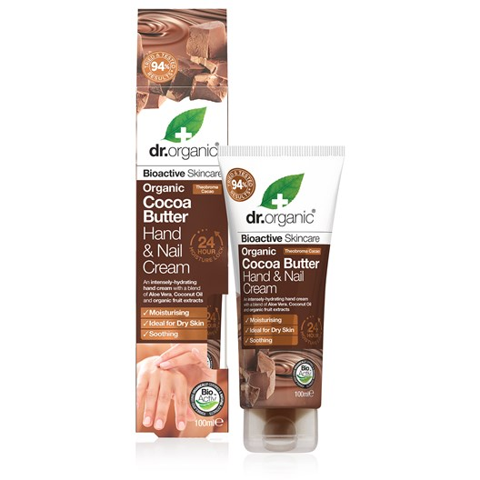 Dr. Organic Cocoa Butter Hand & Nail Cream, 100 ml