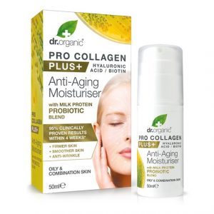 Dr. Organic Pro Collagen Plus Probiotic Anti-Aging Moisturiser, 50 ml