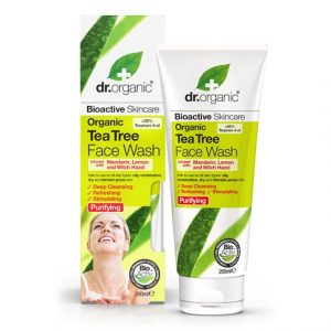 Dr. Organic Tea Tree Face Wash, 200 ml