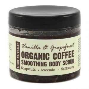 Living Naturally Vanilla & Grapefruit Coffee Body Scrub, 200 g